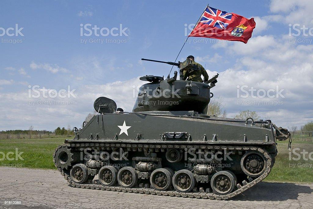 Mark IV Sherman Tank royalty-free stock photo