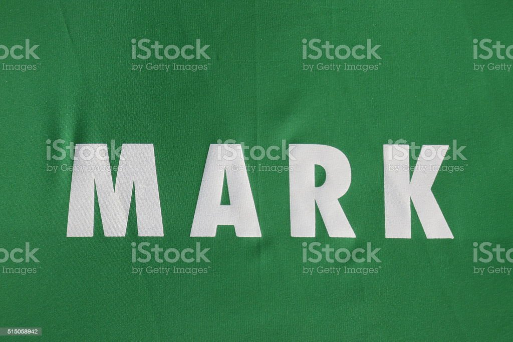 mark Sign stock photo