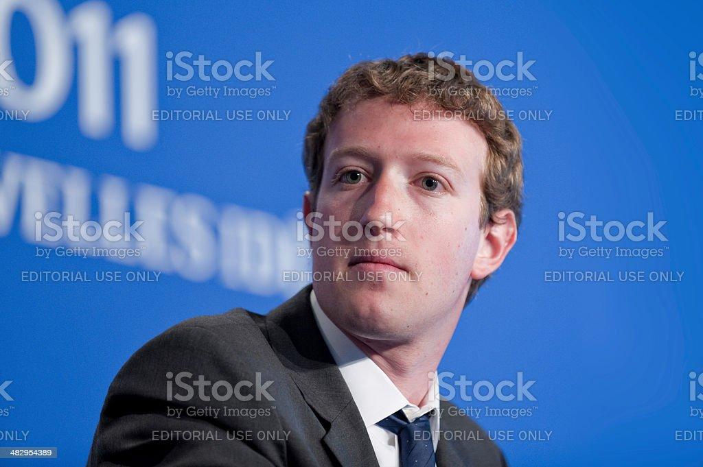 Mark Zuckerberg at G8 in Deauville, France stock photo
