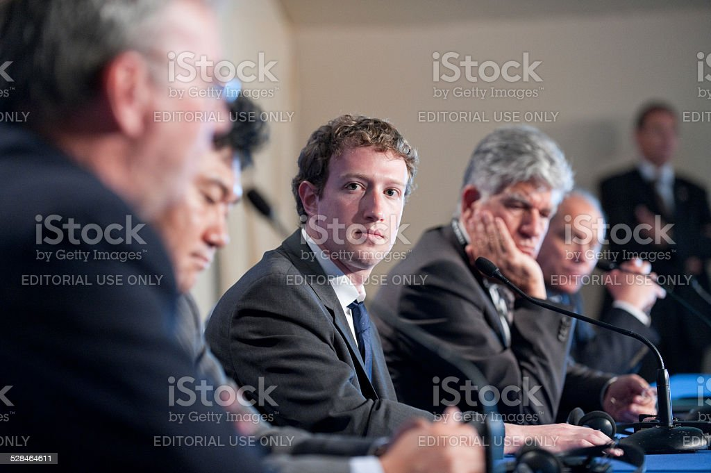 Mark Zuckerberg at G8 in Deauville, France stock photo