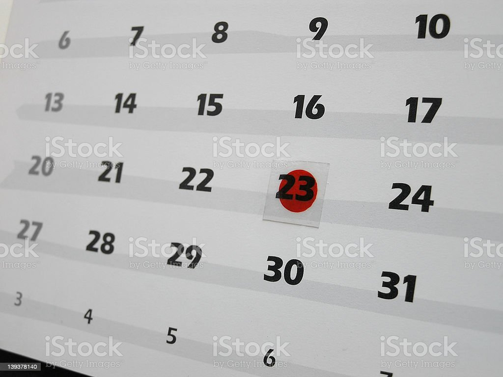 marked date royalty-free stock photo