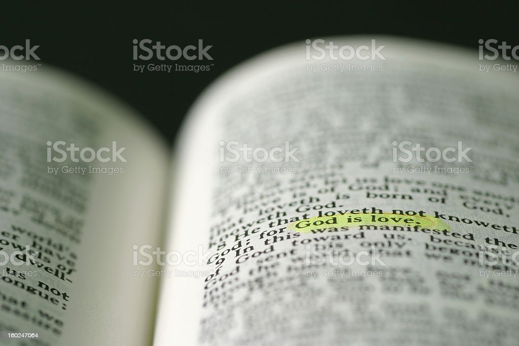 marked phrase in  Holy Bible stock photo