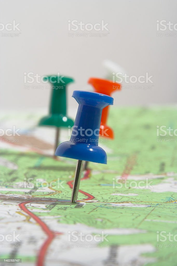 Marked route royalty-free stock photo