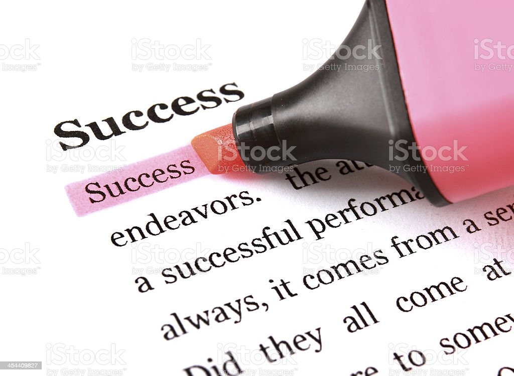 Marker and word success royalty-free stock photo