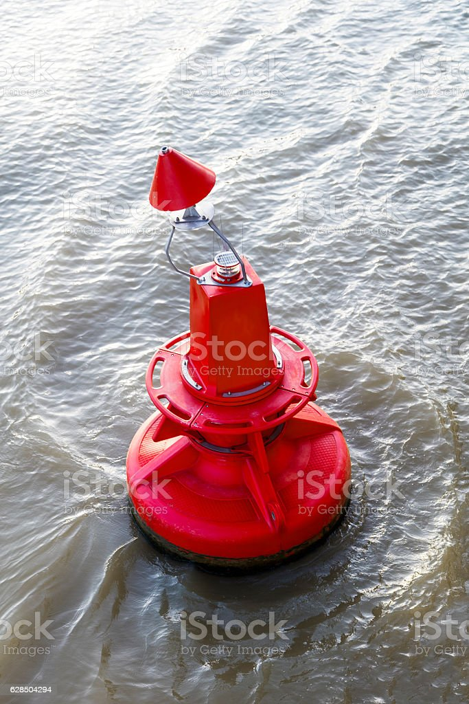 Marker buoy stock photo