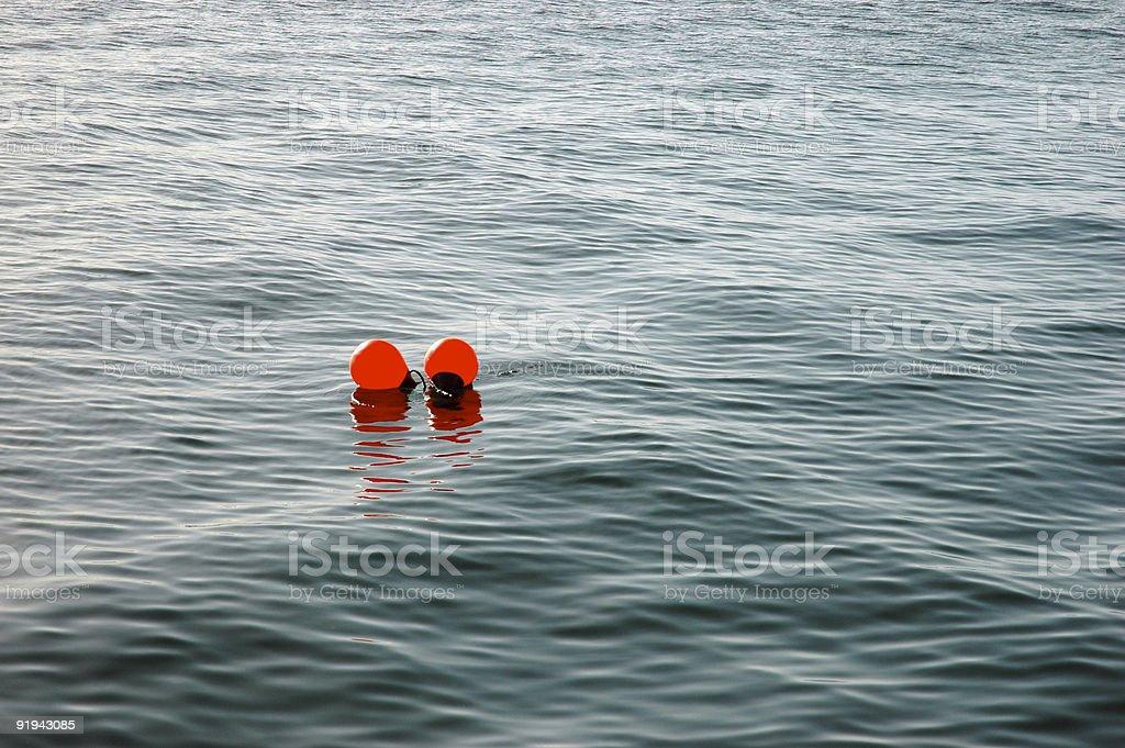 Marker buoys stock photo