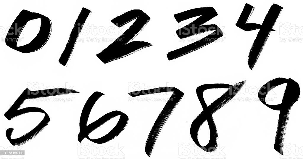 Marker Numbers royalty-free stock photo