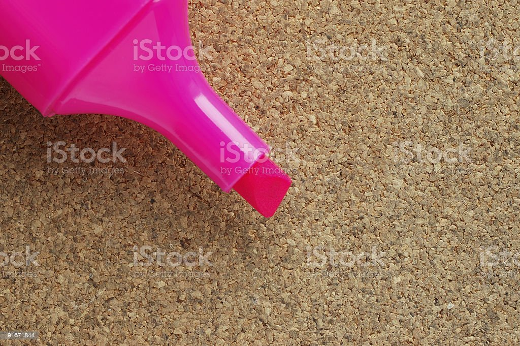marker on pith background stock photo