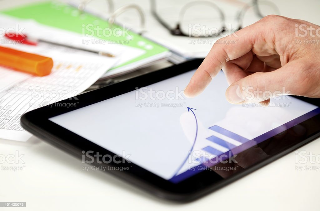 Market analysis stock photo