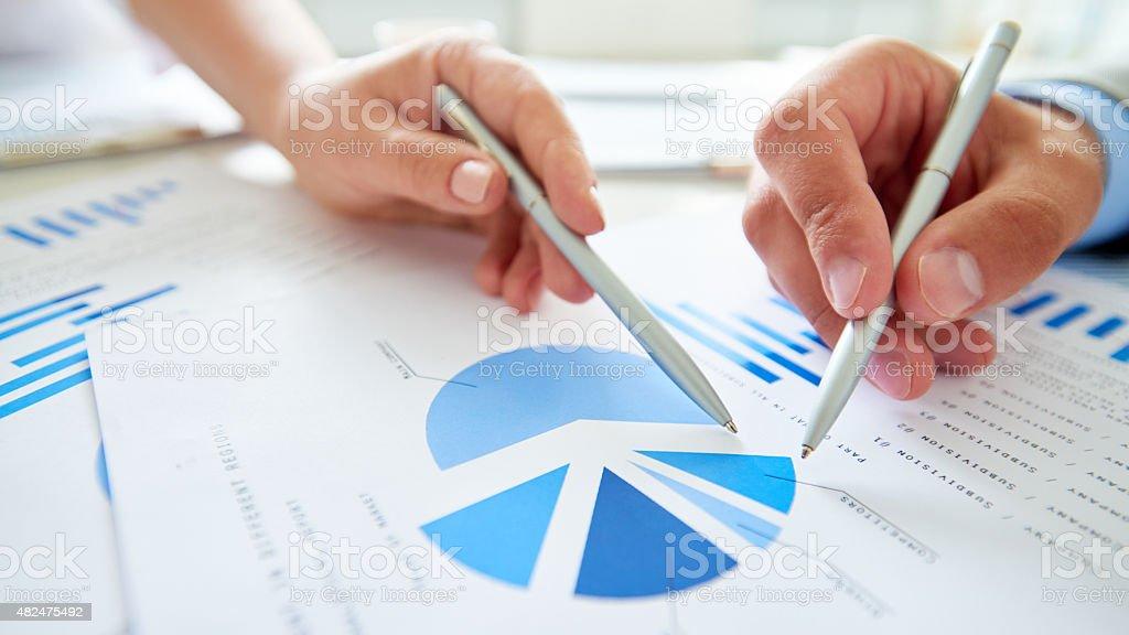Market analysis stock photo