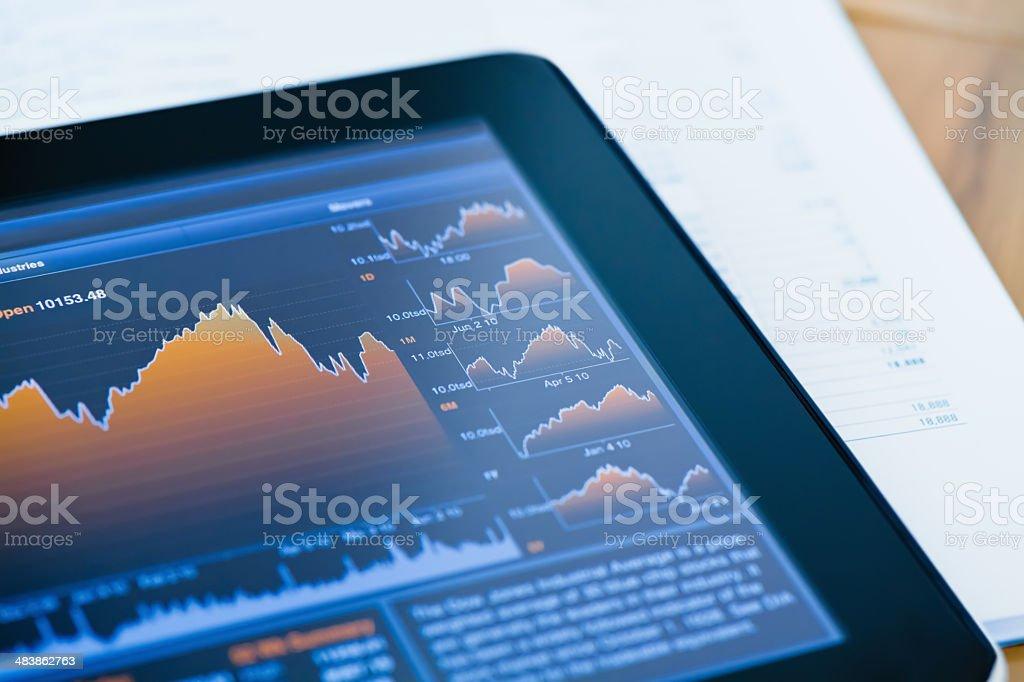 Market Analyze Chart stock photo