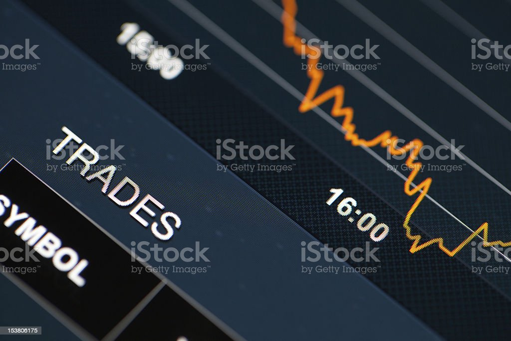 Market Analyze on lcd screen. royalty-free stock photo