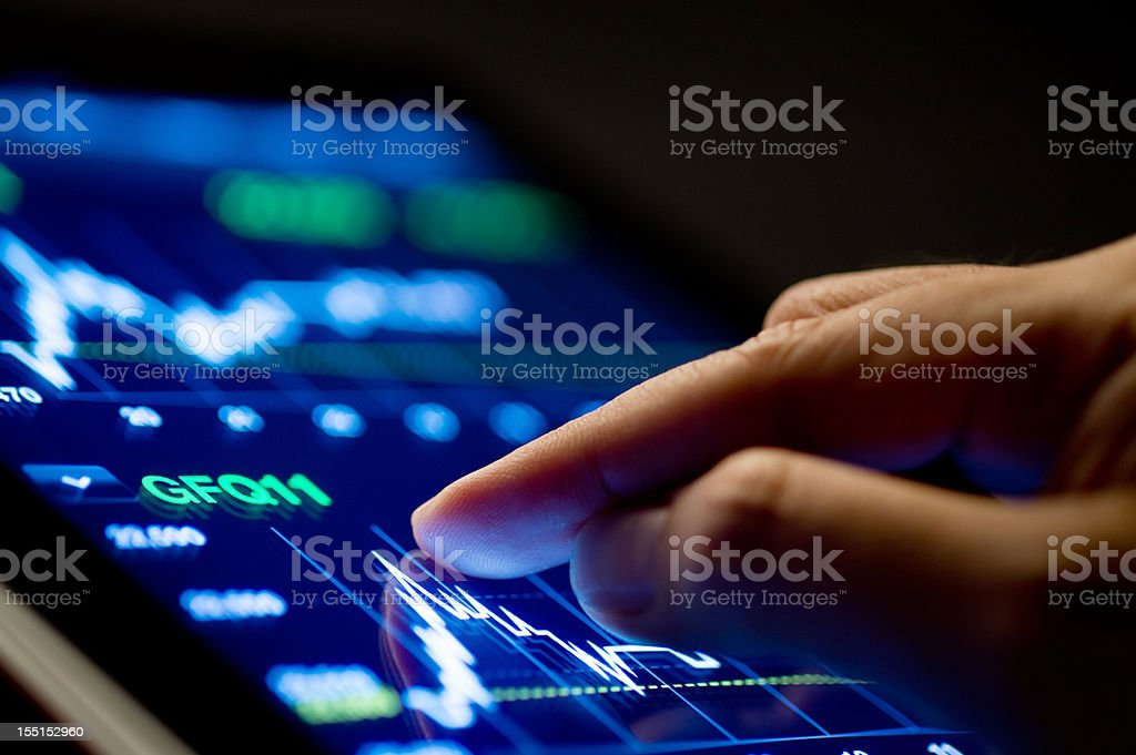 Market Analyze stock photo