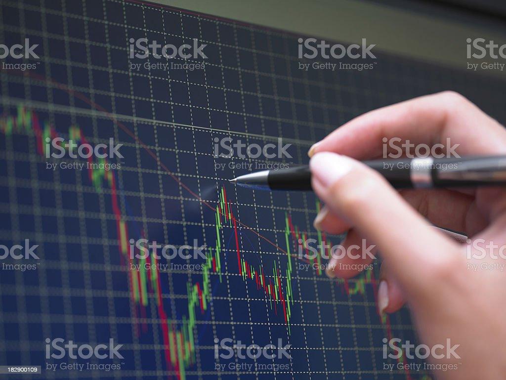 Market Analyze royalty-free stock photo