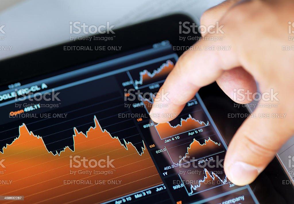 Market Analyze with iPad royalty-free stock photo