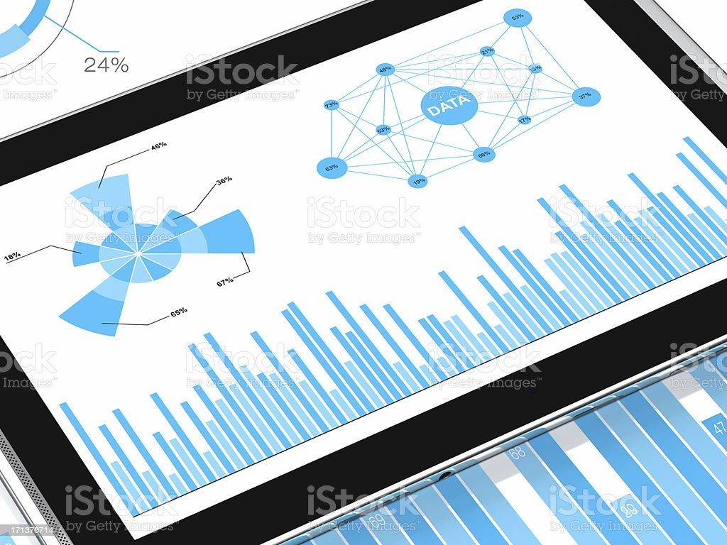 Market Analyzing DATA royalty-free stock photo