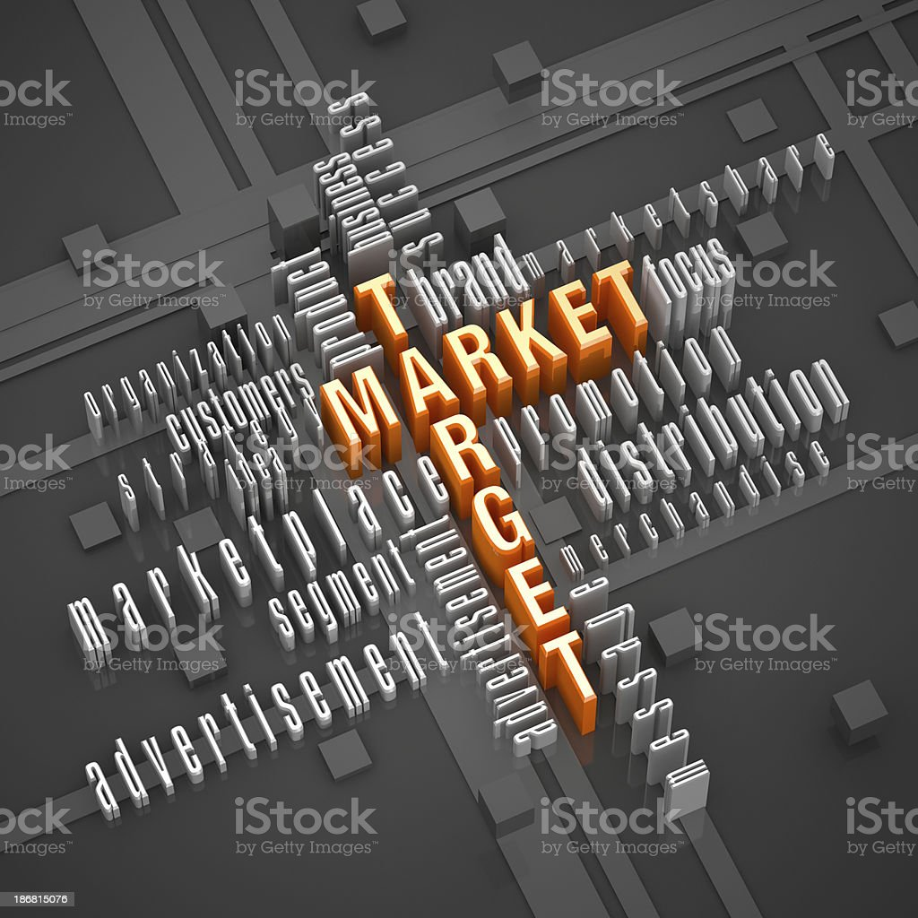 Market And Target stock photo