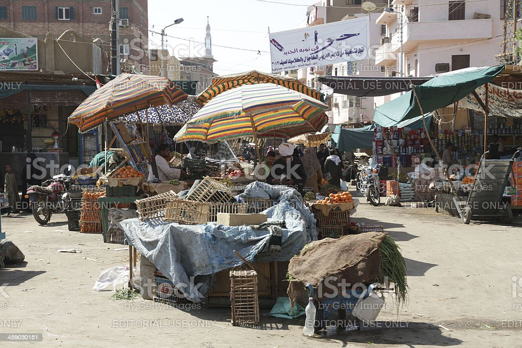 Market at Edfu, Egypt royalty-free stock photo