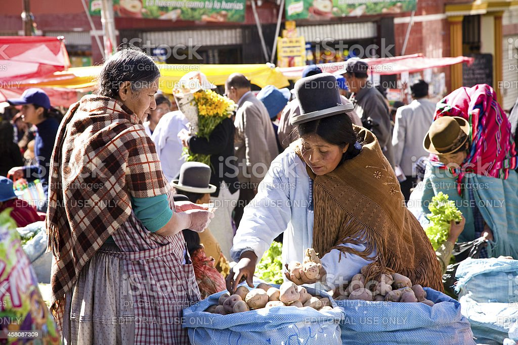 Market, Bolivia royalty-free stock photo