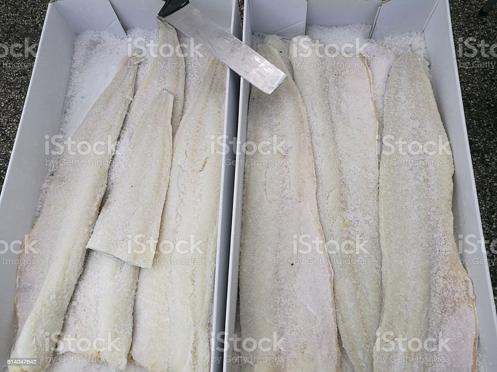 market codfish stock photo