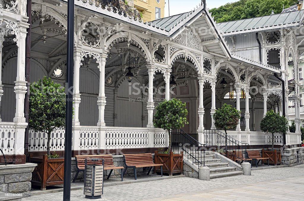 Market Colonnade of Karlovy Vary stock photo