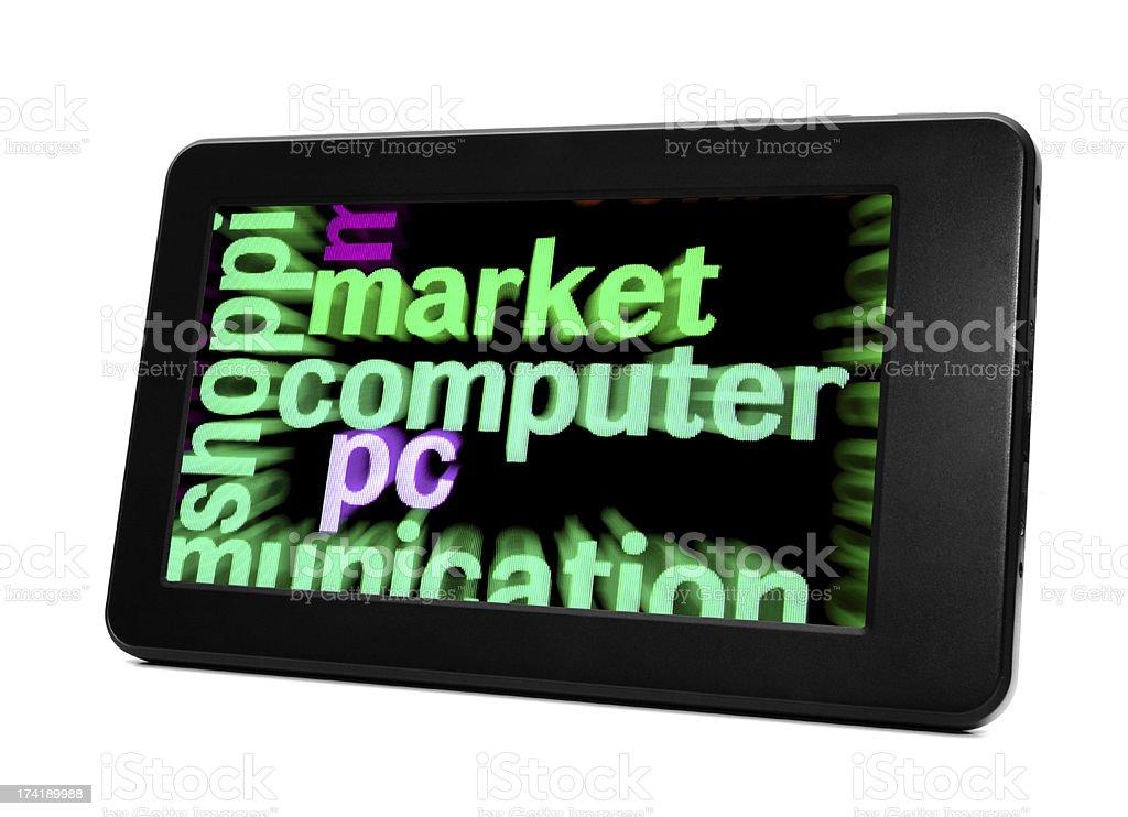 Market computer royalty-free stock photo