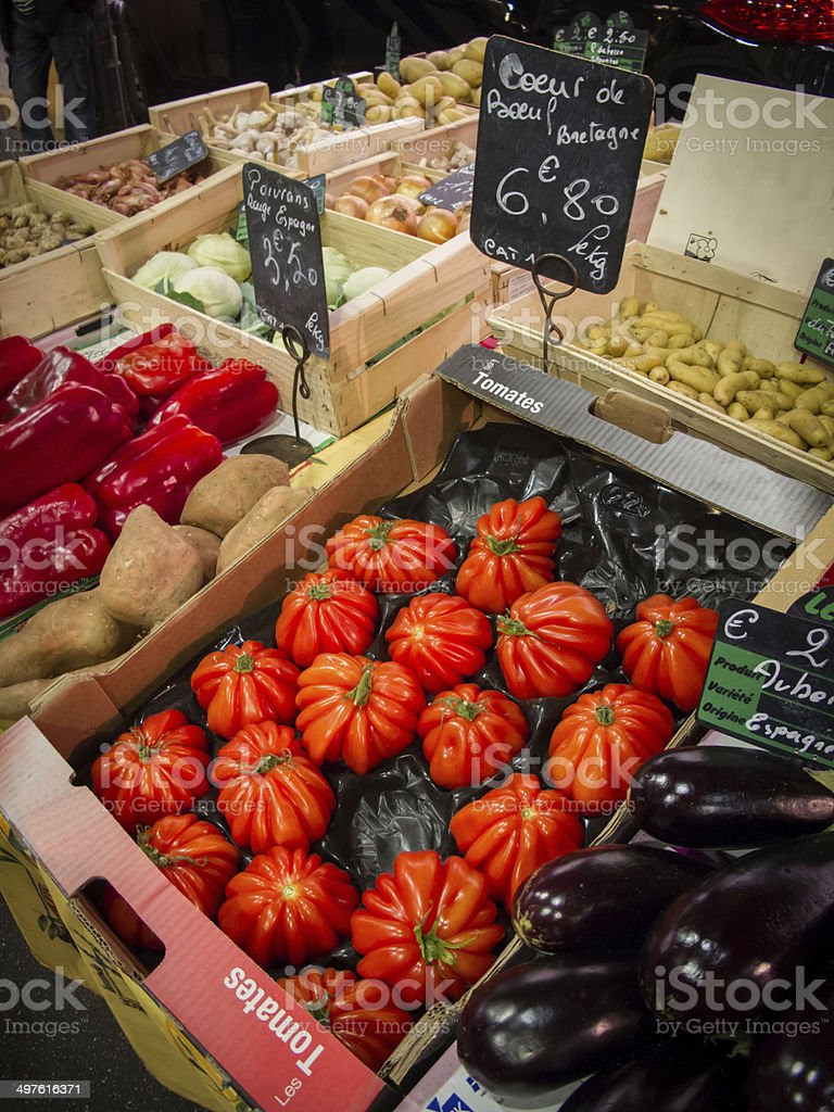 Market day in Antibes France. royalty-free stock photo