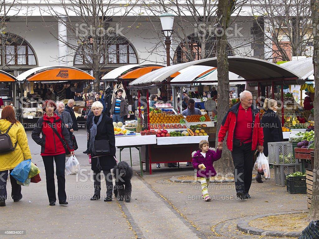 Market day stock photo