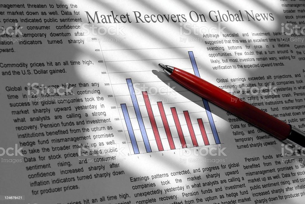 Market Goes Up stock photo