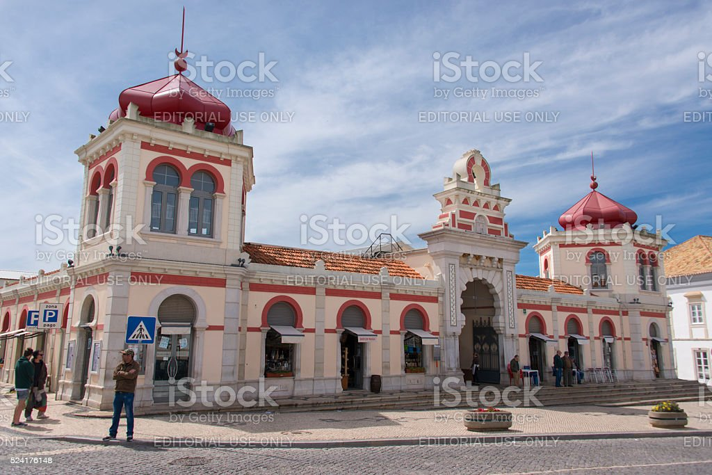 Market Hall in Loulé stock photo
