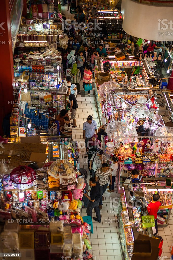 Market in central Jakarta in Indonesia stock photo