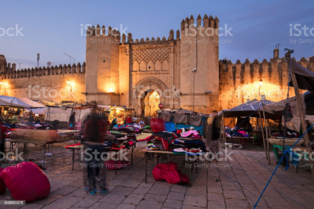 Market in Fez stock photo