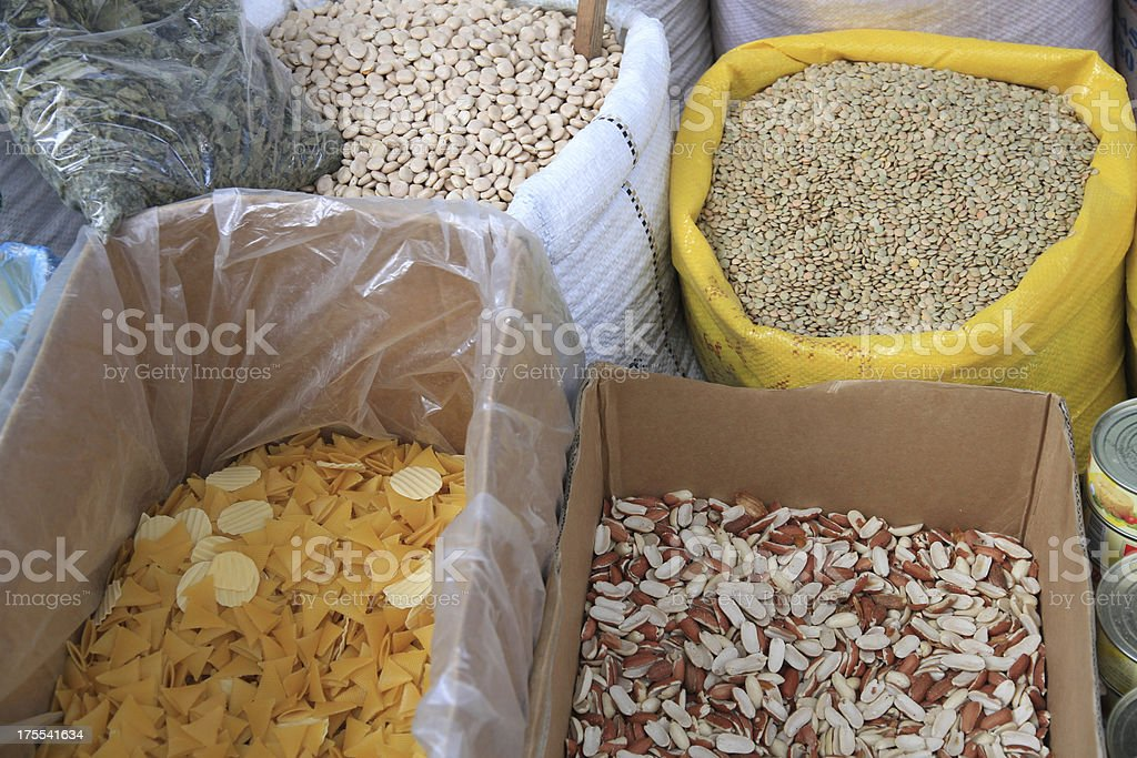 Market in Israel stock photo