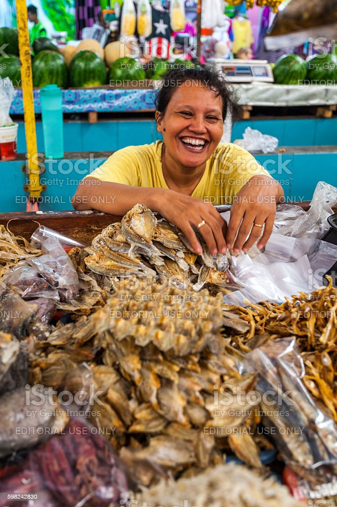 Market in Jakarta, Indonesia stock photo