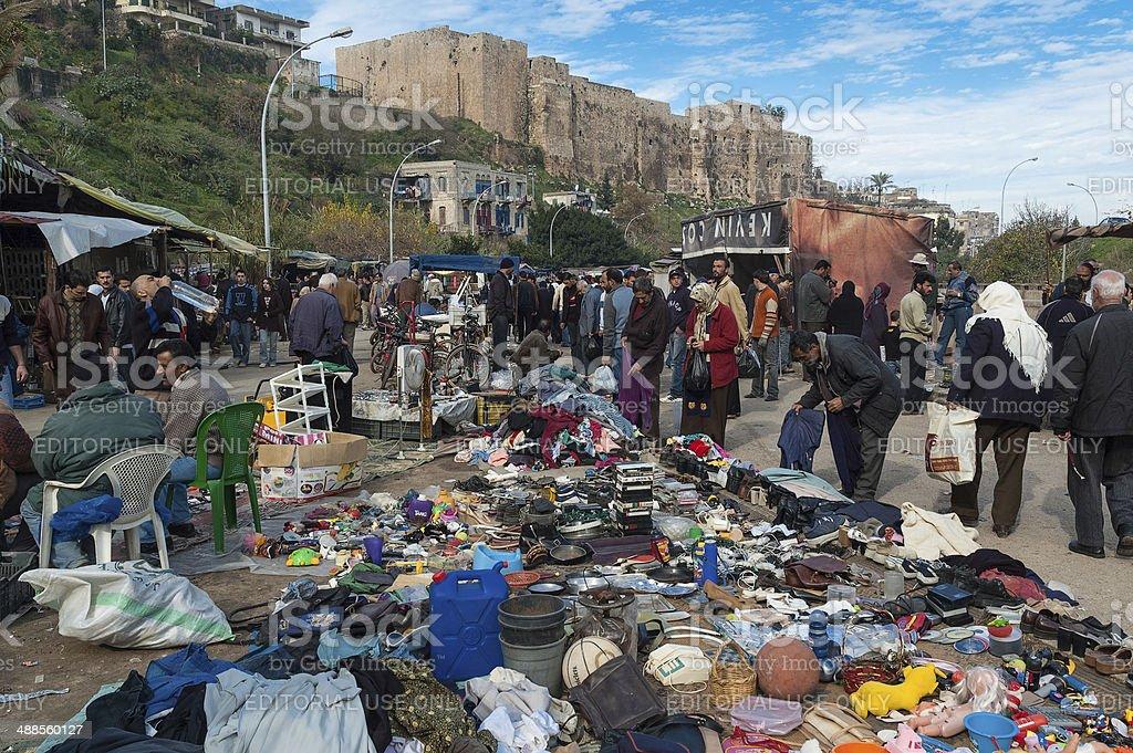 Market in Lebanon stock photo