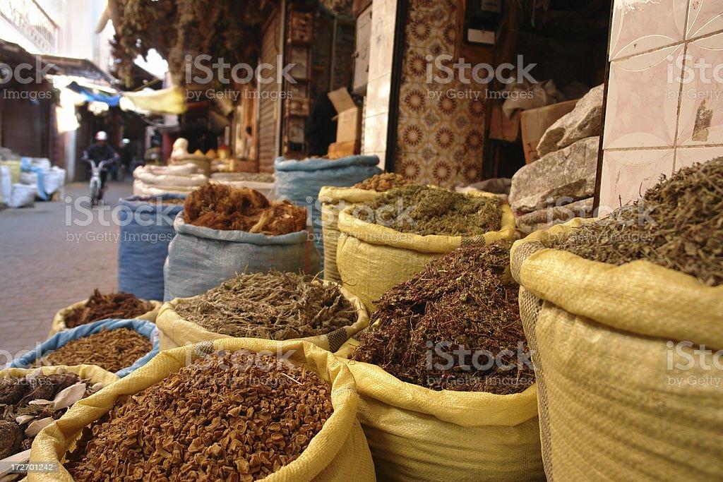 Market in Marrakesh royalty-free stock photo