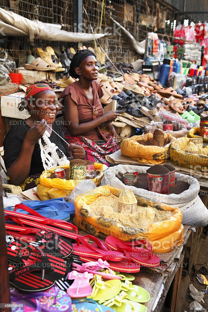 Market in Mombasa royalty-free stock photo