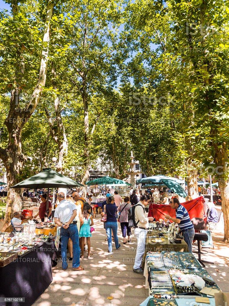 Market in Montevideo, Uruguay stock photo
