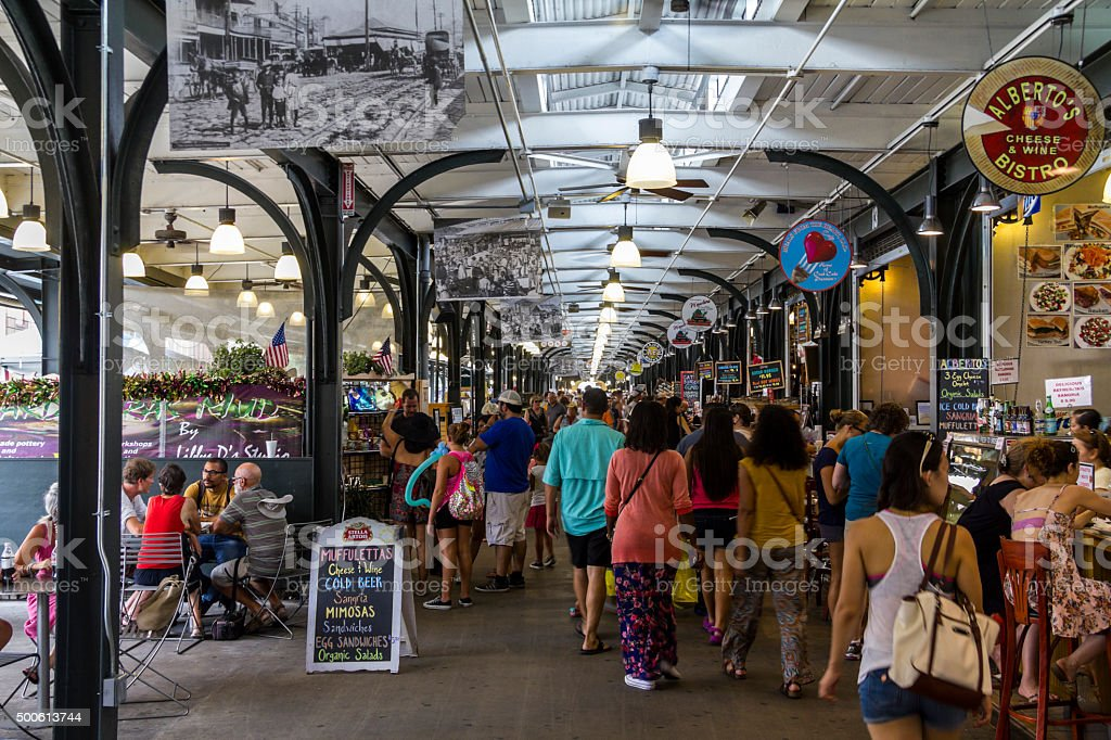 Market in New Orleans stock photo