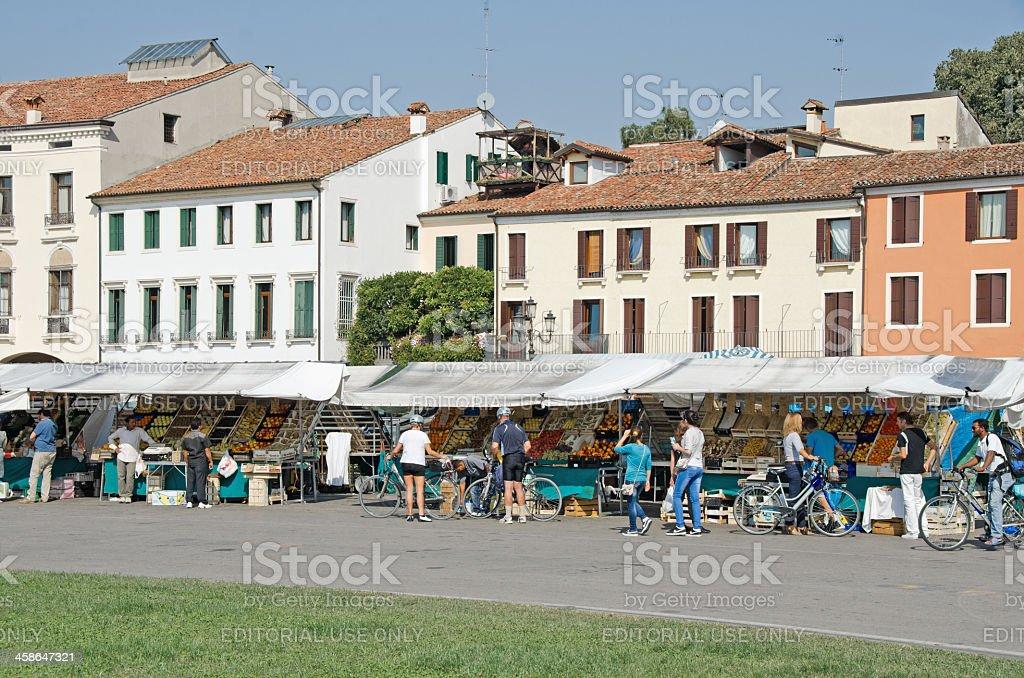 Market In Padova Square royalty-free stock photo