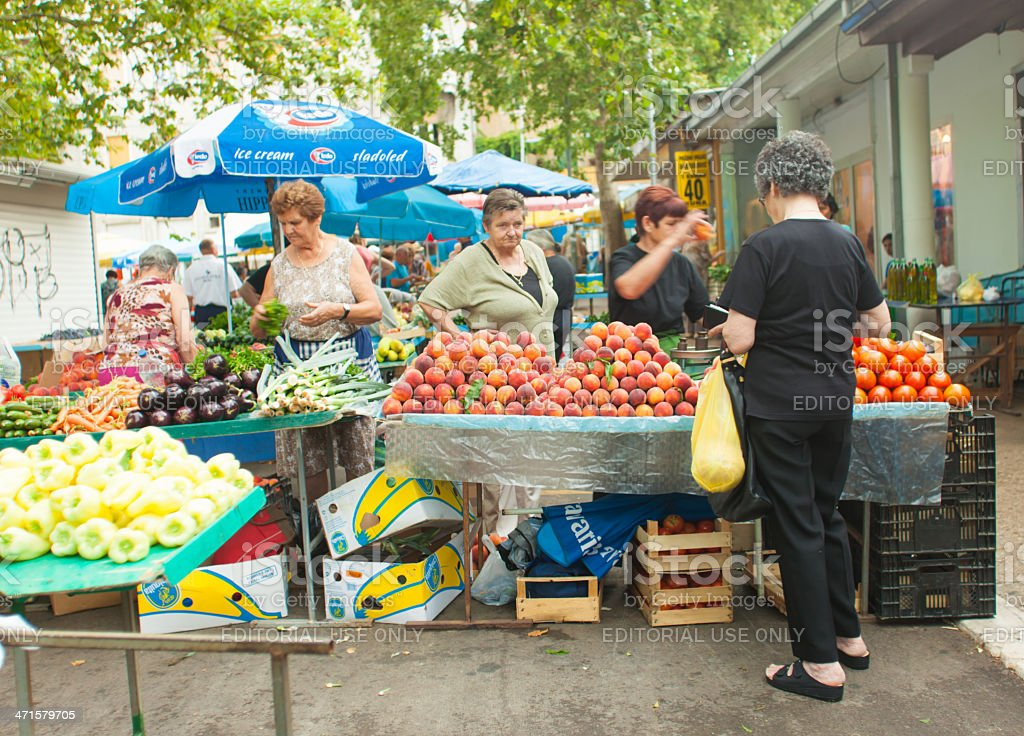 Market in Split royalty-free stock photo