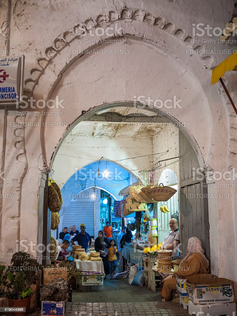 Market in Tangiers, Morocco stock photo
