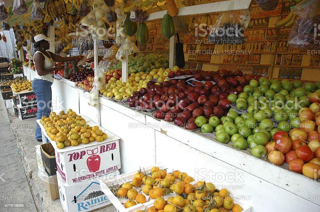 Market in Trinidad stock photo