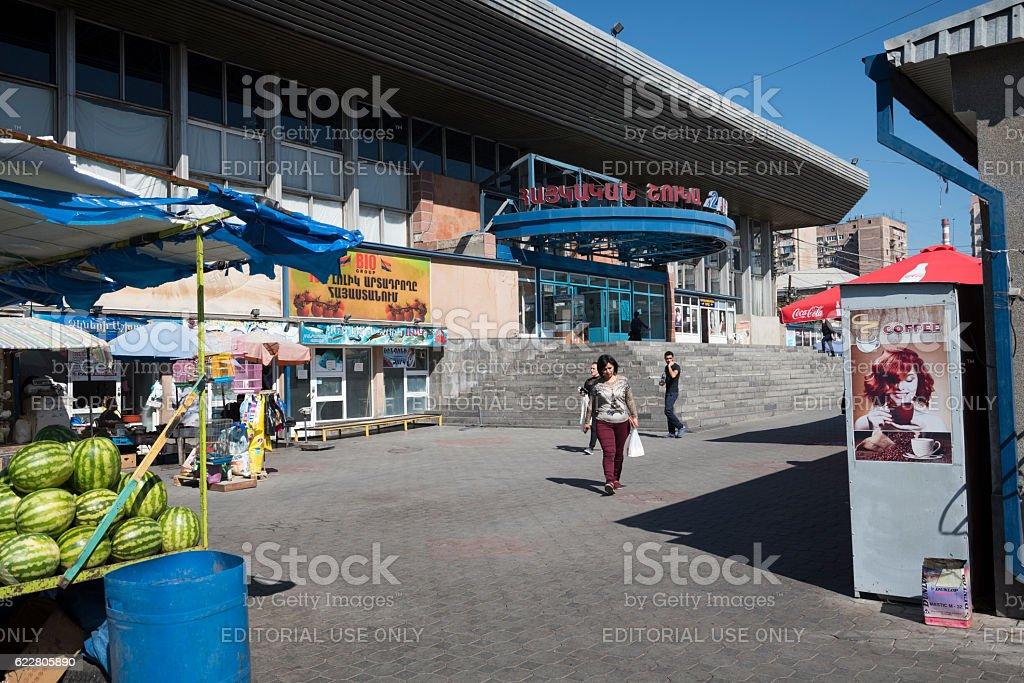 market in Yerevan, Armenia stock photo
