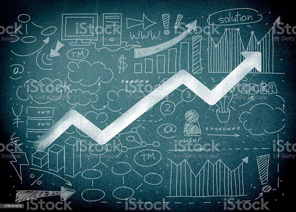 Market, leadership, statistics stock photo