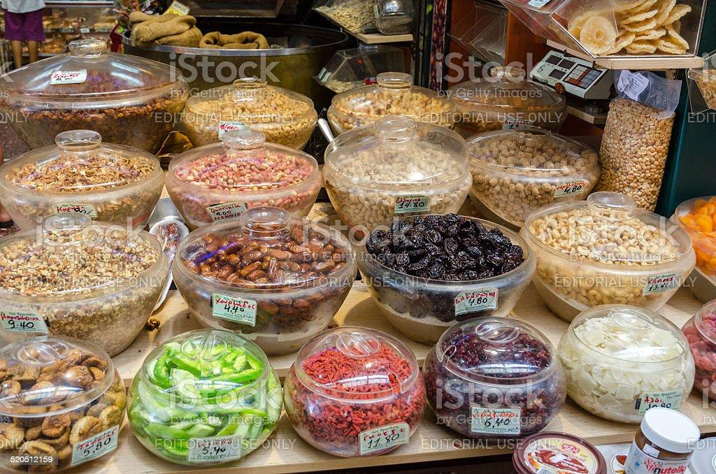 Market 'Modiano' in Thessaloniki, Greece stock photo