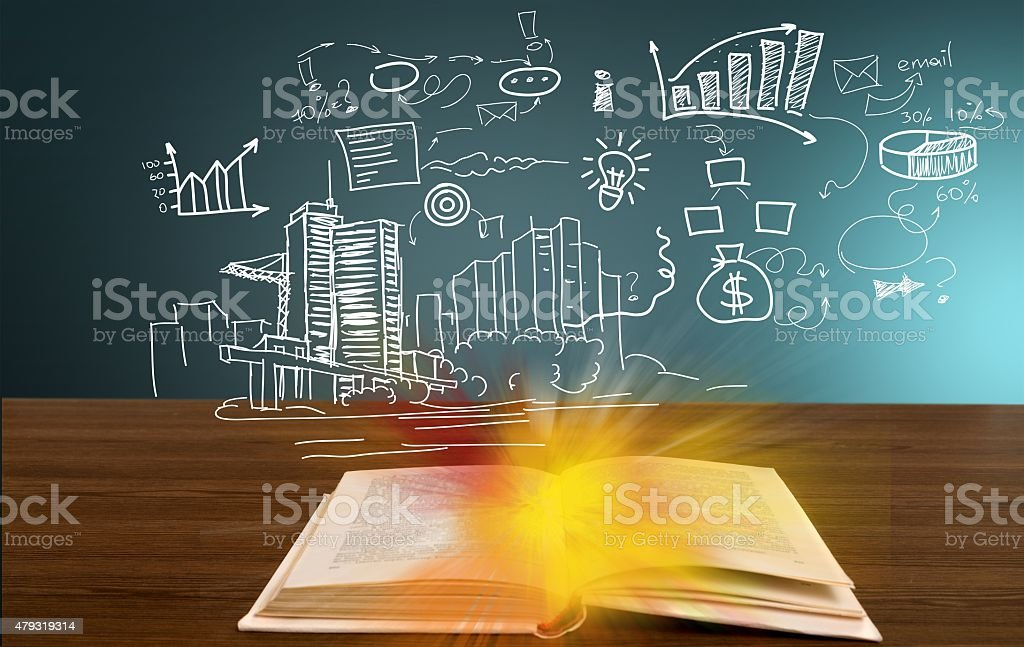 Market, network, leader stock photo