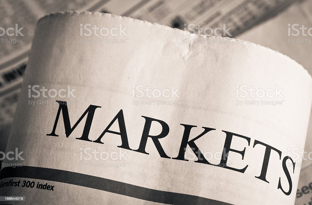 Market news royalty-free stock photo