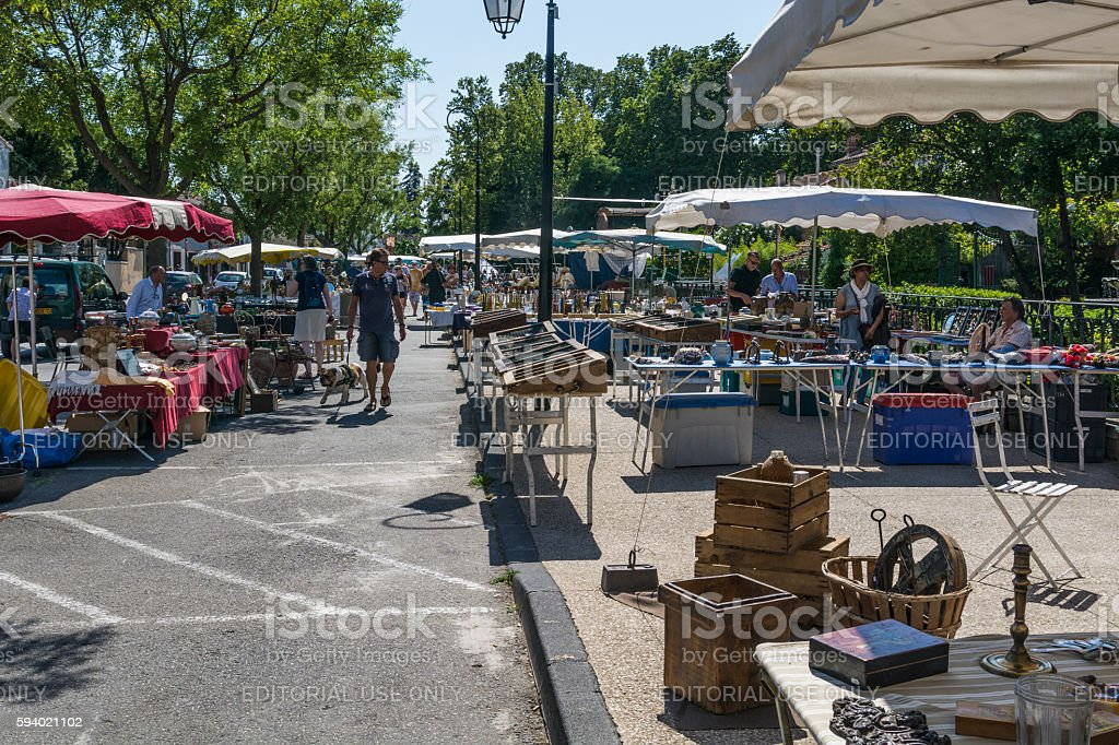 Market of ancient objects stock photo
