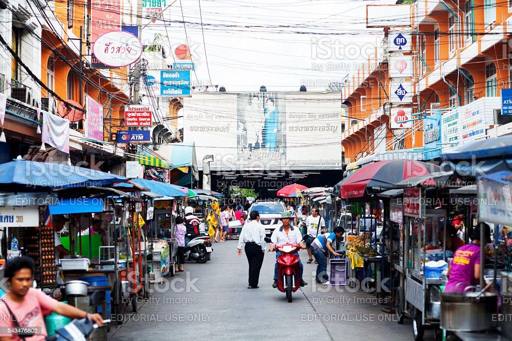 Market of Chokchai 4 Ladprao stock photo